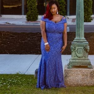 Dresses & Skirts - Periwinkle off-shoulder prom dress size 16w